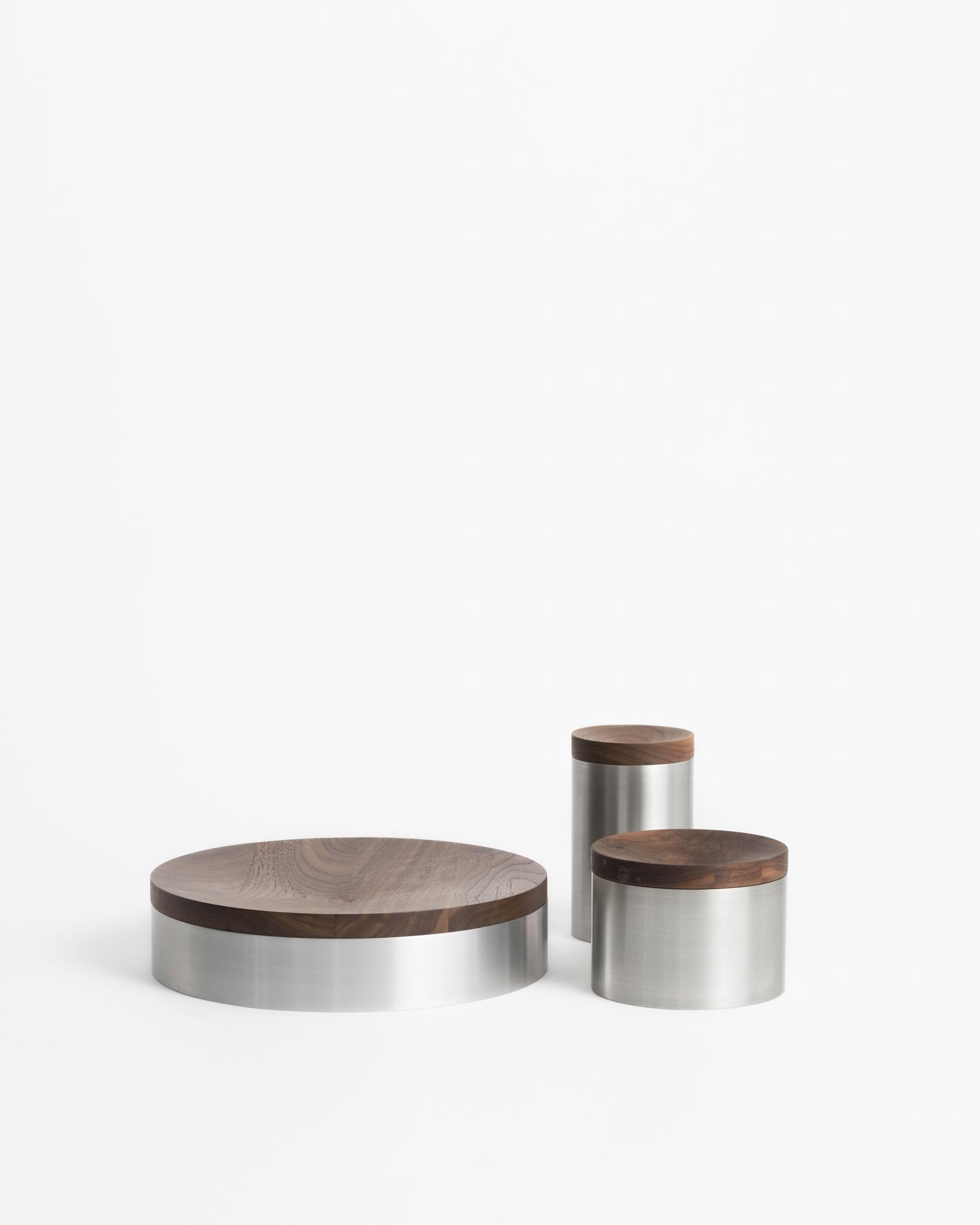 tuz containers aluminium walnut